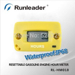 Digital Resettable Inductive Gasoline Engine Hour Meter Maintenance Reminders Counter Meter For Any Petrol Engine 2 4 Stroke