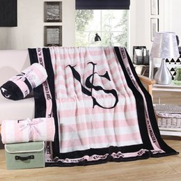 Wholesale VS Secret Blanket Pink Fleece Blanket Portable Throws on Sofa Bed Plane Plaids Qualified Soft Battaniye cmx150cm
