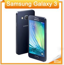 "Original Samsung Galaxy A3 A300F LTE Mobile phone 4.5"" Android Quad Core 1GB RAM 16GB ROM 8.0MP mobile phone"