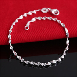 High quality Hot Fine Jewelry Pulseras 925 Sterling Silver Bracelet Charm for women Jewelry 10pcs lot