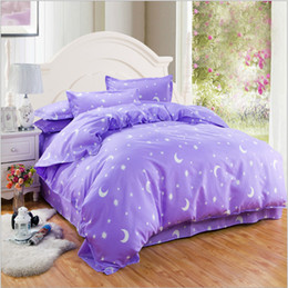 2017 new style ski-friendly purple princess diamond cotton thicken bedclothes free shipping
