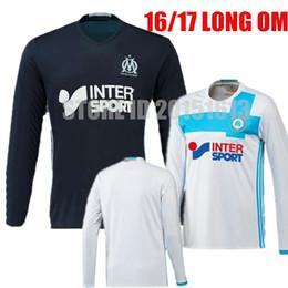 Wholesale 2016 Long Sleeve Maillot De Foot Home Away Marseille Soccer Jerseys MENDES GIGNAC VALBUENA Cabella Lass Football Jerseys Kit
