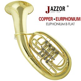 Wholesale JAZZOR JZEU Professional Euphonium B Flat Gold Lacquer Grading Brass wind instrument with mouthpiece and case