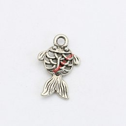 30pcs Antique Silver Plated Hollow Fish Charms Pendants Bracelet Necklace Jewelry Making Accessories DIY 17x11mm