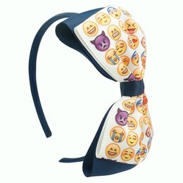 Fashion Headbands wholesale Multi Colors Bow Emoji Print Hair bands Women Hair Accessories Hair Ornaments For Women