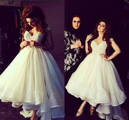 2017 Dubai Arabic Elegant Evening Dresses Designer Ivory Beaded High low Sleeveless A Line Party Prom Gowns