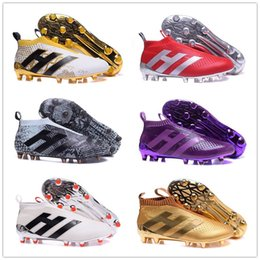 Wholesale ACE PureControl Slip on Mens sock Football boots Soccer Shoes Football Cleats Shoes FG AG Without Shoelaces Size US Hot Sale