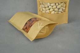 Wholesale Paper Bag For Snack x14cm Ink jet Printer Small Kraft Paper Bag Kraft Window Bag Stand up Zip Lock Paper Bag