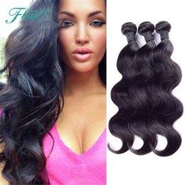 Promotion 22 pouces extensions de cheveux longueur Sleek Body Wave 3 paquets Cheveux indiens 8A Cheveux non traités 10-30