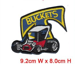 Classic car buckets computer embroidery patches 10pcs lot dress decoration hot cut iron on good quality factory in China