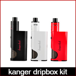 High Quality Kanger Dripbox Kit with KangerTech Subdrip Tank Dripmod Box Mod Wide Bore Drip Tip Black White Red Color