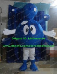 Wholesale Sagacity Blue Molecule Molecular Ion Atom Dust Dirt Mote Particle Particulate Corpuscle Mascot Costume Cartoon Character ZZ1128