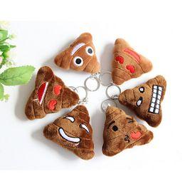 New Emoji Stuffed Animals Keychain emoji Poo Plush Toys keyring With steel ring for Mobile Pendant