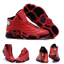 Wholesale With shoes Box High Quality Retro XIII Ray Allen Heat University Red Gym Red Men Hot Sale Shoes
