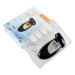 Haute qualité!!! AlcoholTester ivressomètre numérique alcool testeur avec porte-clés livraison gratuite Noir meilleur prix à partir de alcool trousseau fournisseurs