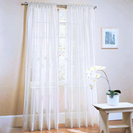 Wholesale 2Pcs Window Door Curtains Voile Tulle for Bedroom Living Room Balcony Kitchen Decoration curtain Home Textile Decor