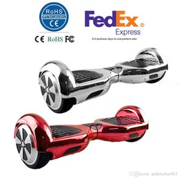 Wholesale Stock In USA Chrome Inch Smart Balance Wheel Hoverboard Electric Skateboard Drift Self Balancing Standing Plated Scooter