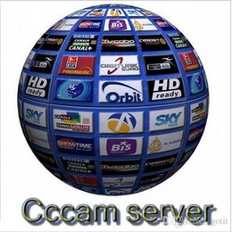 Wholesale cccam servers year Europe cline with servers HD account for Spain UK Germany French Italy Poland Satellite Decoder with AV Cable