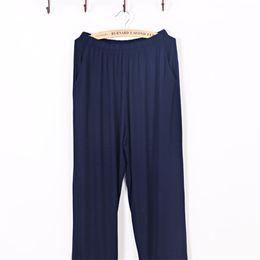 Wholesale Trousers Pajamas Men Autumn Pants Bamboo Fiber Modal Solid Thin Casual Pants Loose Men s Sleep Lounge Sleep Bottoms