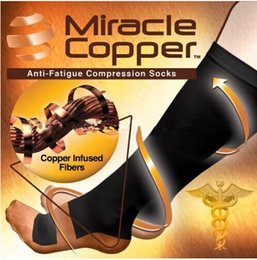 Wholesale Miracle Copper Socks Copper Compression Socks Reduce Swelling Socks Antimicrobial Compression Socks Running Socks Sport Socks Stockings