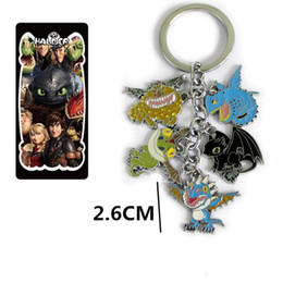 Free SHIPPING 10Set How To Train Your Dragon Toothless figure doll 5 colored metal pendant keychain Key Ring