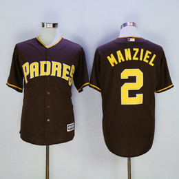 2017 johnny manziel jerseys New San Diego Padres # 2 Johnny Manziel Maillots de Baseball White Brown Brown johnny manziel jerseys offres