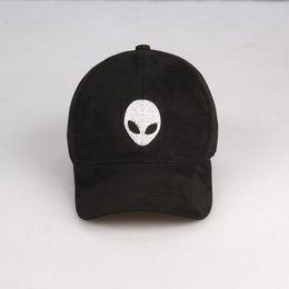 Wholesale High quality aliens Outstar saucer Space E T UFO fans black suede fabric snapback baseball cap hat for men women hip hop cap