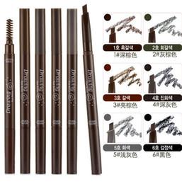 Wholesale Luxury Etude House Triangular shape Drawing Eye Brow color Long lasting Natural Eyebrow pencil brush Enhancers eye makeup cosmetics tools