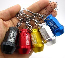 JDM RACING D1 Spec Aluminum alloy car Wheel Lug Nuts Screw keychain keyring key ring chain