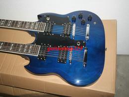 2017 cuerdas custom shop Azul Custom Shop DES1275 doble del cuello de la guitarra eléctrica 6/12 cuerdas de gran calidad CALIENTE descuento cuerdas custom shop