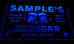 LS582-b Name Personalized Custom Family Home Brew Mug Cheers Bar Beer Neon Sign
