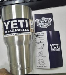 Wholesale gt Product detail Stainless Steel oz Yeti Cups Cooler YETI Rambler Tumbler Cup Vehicle Beer Mug Double Wall Bilayer Vacuum Insulated