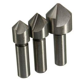 2016 forets en métal Date 3pcs / set Mèche Set High Standard HSS acier à haute vitesse Fraises coniques pour l'acier Snd Métaux durs 10mm 12mm 16mm S78 peu coûteux forets en métal