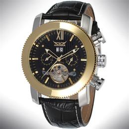 Promotion mens multi fonction Luxe JARAGAR Tourbillion Automatique Mécanique Montre Montres Hommes Top Montre Luxe Calendrier multi fonction Horloge Montres Relojes vente en gros