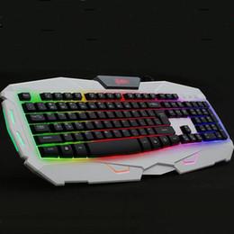 New Colorful Backlights Professional Mechanical Gaming Keyboard USB PC Keyboards Illumination Backlit Gaming Keyboard Delog