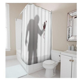 Wholesale Customs W x H Inch Shower Curtain Shadow Blood Hand Waterproof Polyester Fabric DIY Shower Curtain