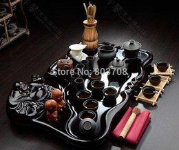 Wholesale A complete ceramic tea sets Kung Fu tea tray Laughing Buddha Maitreya tea sets