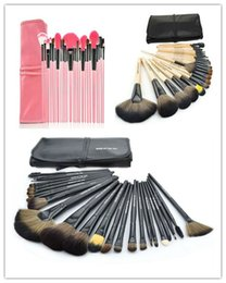 Wholesale Cheap Professional Brushes - 24pcs Brand Makeup Brushes Tools Professional Cosmetics Kits Eyeshadow Foundation Powder Brush Sets with Logo MAKE UP FOR YOU Cheap Price