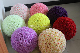 Wholesale Inch Wedding silk Pomander Kissing Ball flower ball decorate flower artificial flower for wedding garden market decoration