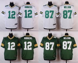 Wholesale NEW Aaron Rodgers Jordy Nelson Jersey Stitched Packers Jerseys Cheap Size M XXXL discount football jerseys Custom Elite Embroidery