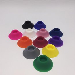 Wholesale Ego Suckers e cigarette silicone suckers ego base holder ego display stands rubber caps pen holder stand for EGO battery ego kits ecigs