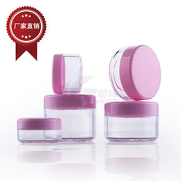 3g 5g 10g 20g plastic cosmetic container Plastic cream jar Makeup Sample Jar, Cosmetic Packaging Bottle
