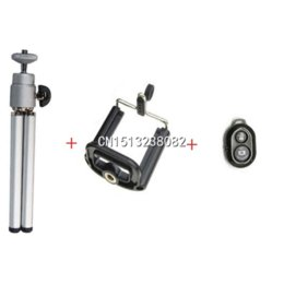 Bluetooth Shutter Remote Control Camera with Universal Tripod Phone Holder for Iphone 4 4S 5 5S Samsung S4