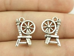 Wholesale WYSIWYG mm antique silver color Textile machines charms