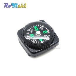 Wholesale 10pcs Compass Slip Slide on Watch Band Wrist For Survival Paracord Bracelets
