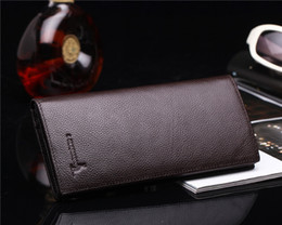 Factory direct sale Han edition of the new long cowhide leather wallet Men's hand bag wholesale