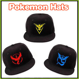 Wholesale Adult Poke Go Baseball Caps Cartoon Poke Pikachu pokémon go Hats Caps Casual Pikachu Caps Adjustable Poke Ball Snapbacks hip hop caps
