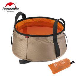 Wholesale NatureHike L Ultralight Outdoor Nylon Folding Water Washbasin Portable Wash Bag Foot Bath Camping Equipment Travel Kits