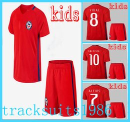 Wholesale 2016 Chile Kids Jerseys child teens Shirt SANCHEZ VALDIVIA VIDAL ALEXIS America s Cup Wholesalers Sportswear rugby
