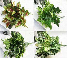 5 Bundles Artificial Green Plant Branch Leaf-shaped For Home Office Wedding Garden Decoration 10 Type For Choose